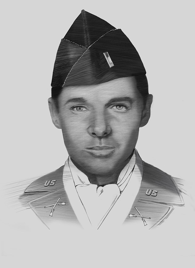 First Lt. Audie Murphy by Karen Carr