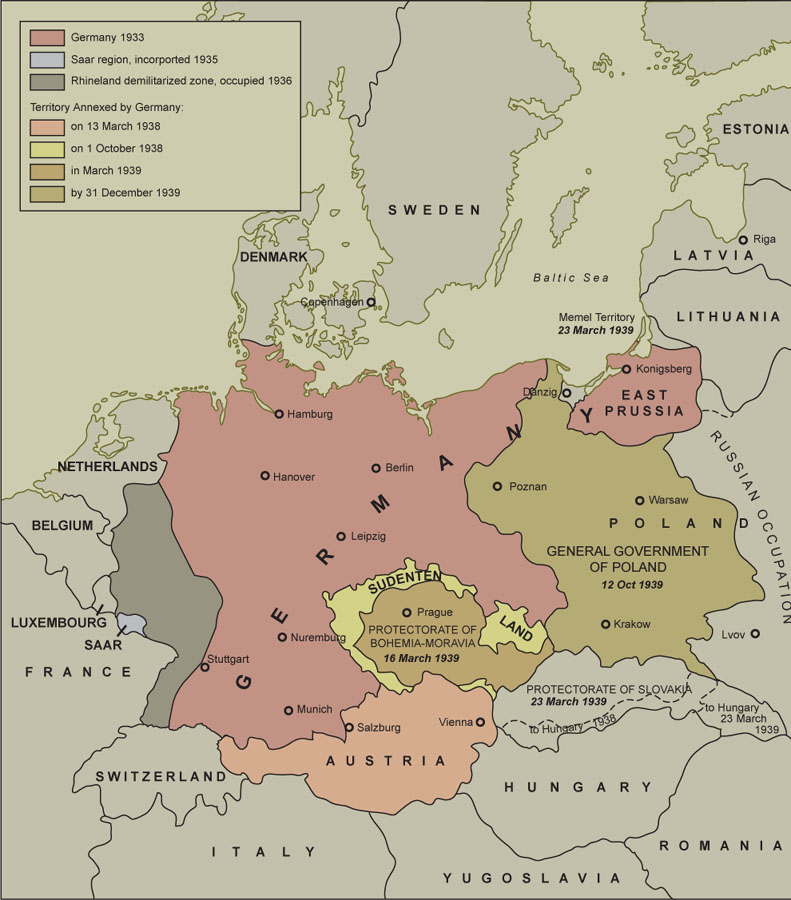 Germany expansion from 1933 by Karen Carr